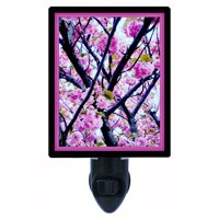 Night Light, Photo Night Light, Cherry Blossoms, Spring Flowers, Trees, Pink plus FREE Switchable Insert