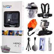 GoPro HERO Action Camera CHDHA-301 with Headstrap + Chest Harness Mount + Wrist Glove Strap + Floaty Bobber + Mini Tripod + Cleaning Kit