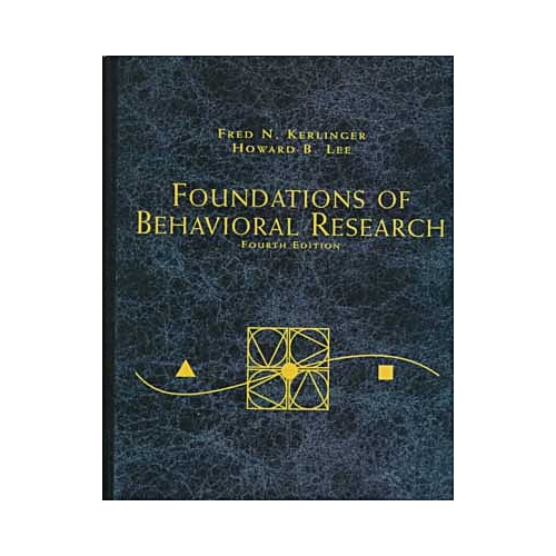 Foundations of Behavioral Research