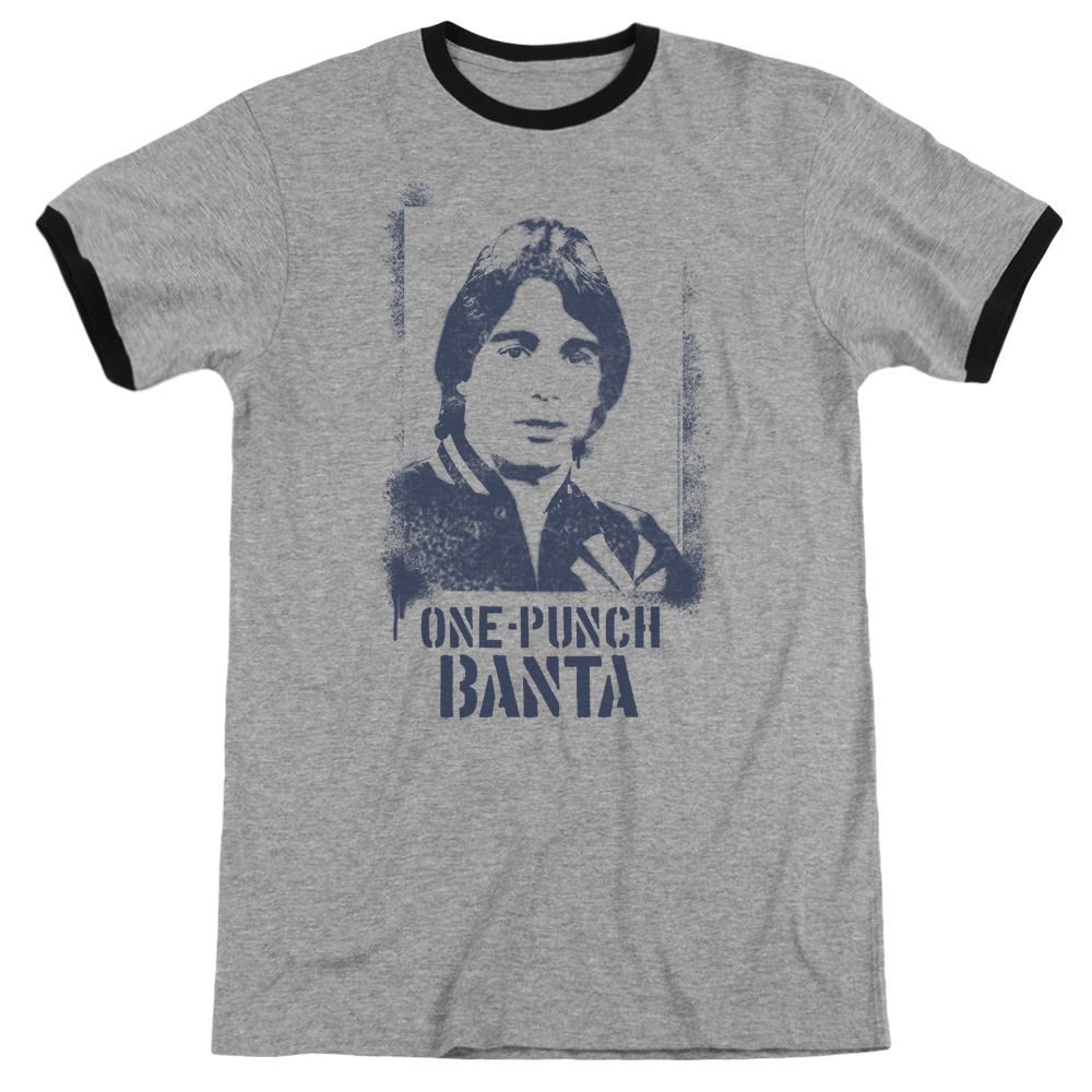 Taxi One Punch Banta Mens Adult Heather Ringer Shirt