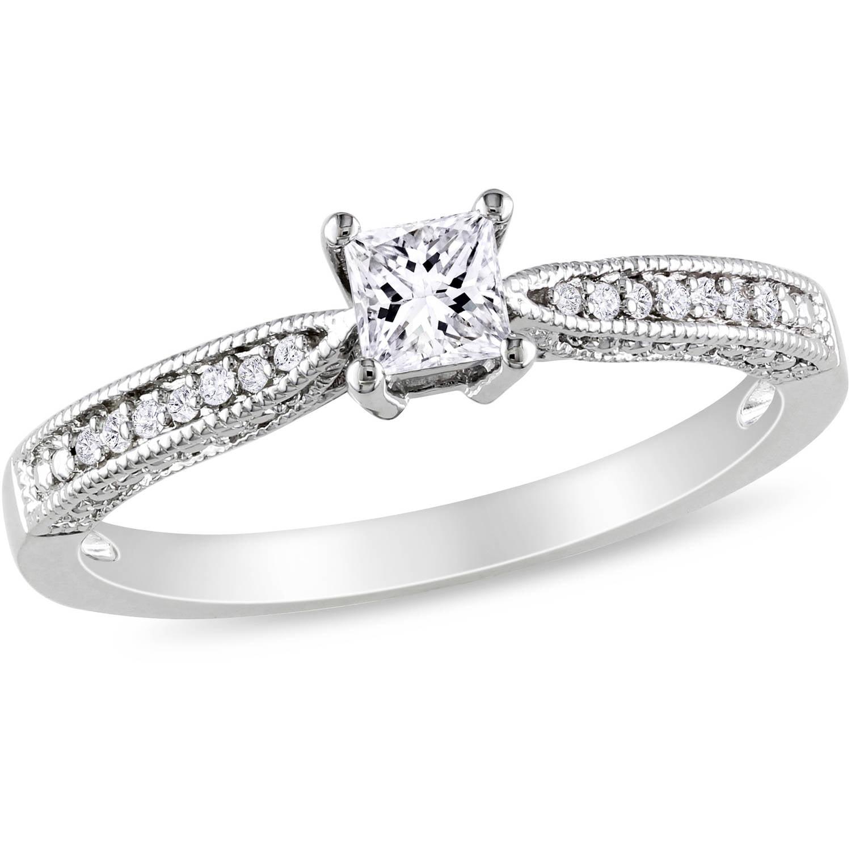 Miabella 1 7 8 Carat T G W White Sapphire Sterling Silver