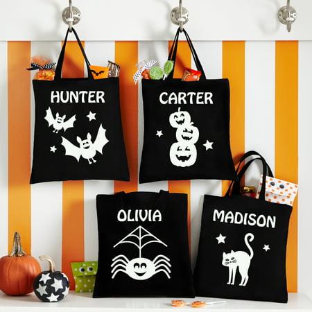 Personalized Super Spooky Halloween Glow In the Dark Treat Bags
