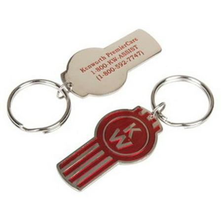 Kenworth Red & Silver Pewter Key Tag -
