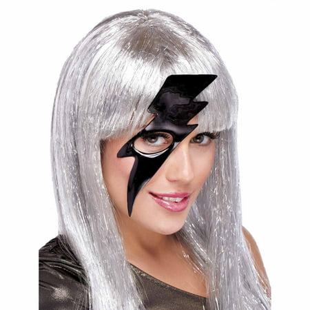Lightning Bolt Black Mask Adult Halloween - Halloween Lightning