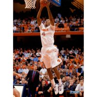 """Wesley Johnson Syracuse White Jersey Two Handed Dunk Vertical 8"""" x 10"""" Photo"""