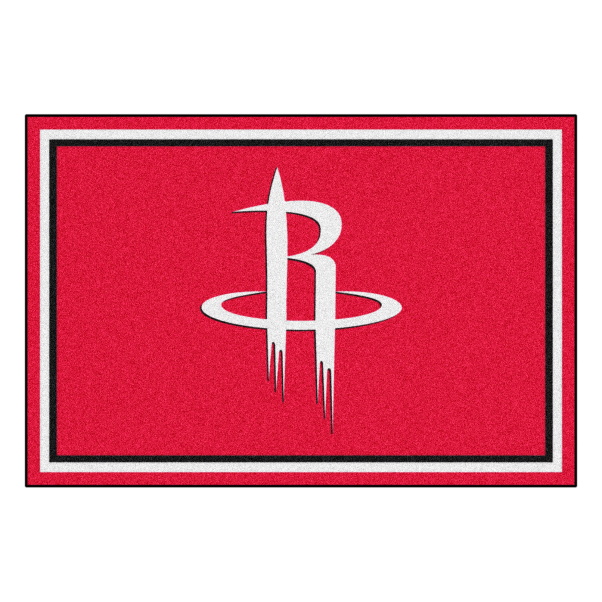 NBA Houston Rockets 5 x 8 Foot Plush Non-Skid Area Rug