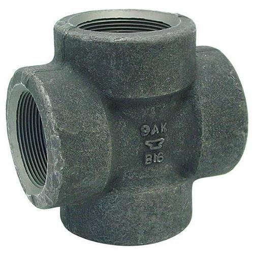 "Anvil 2-1/2"" Threaded Forged Steel Cross, 361130800"