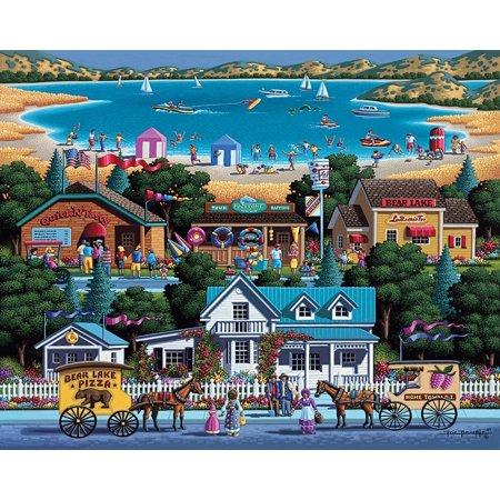 Dowdle Folk Art Bear Lake Puzzle - image 3 de 3
