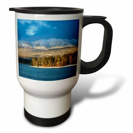 Usa Ski (3dRose Ski runs of Whitefish Mountain Resort in Whitefish, Montana, USA, Travel Mug, 14oz, Stainless)