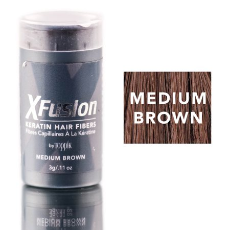 Xfusion Hair Fiber - XFusion Medium Brown Keratin Hair Fibers (Size : 0.11 oz)