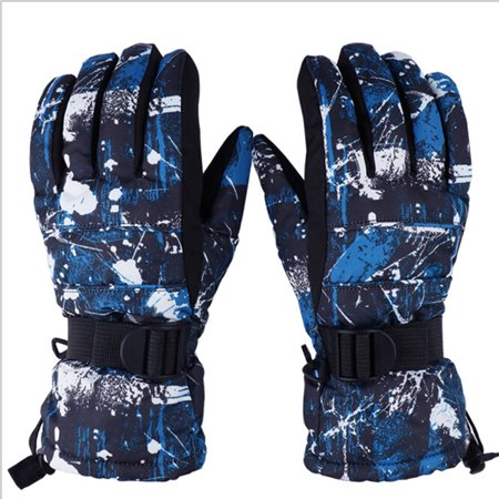 EVBEA -22 Degree F Mens Cold Weather Waterproof Glove Magic Stretch Camo Winter Warm Ski