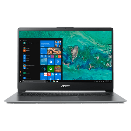 Acer Swift 1, 14u0022 Full HD Notebook, Intel Pentium Silver N5000, 4GB, 64GB SSD, Windows 10 Home in S mode, Office 365 Personal 1-Year, SF114-32-P2PK (Google Classroom Compatible)