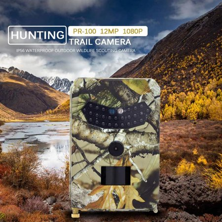 Outdoor Infrared Game Camera Faayfian 1080P Digital Hunting Trail Camera Night Vision Effectively Prevent Rain, Dust and Insects,Great for Wildlife Hunting Monitoring and Farm
