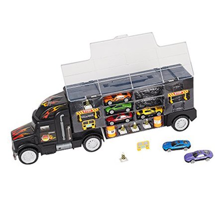 KARMAS PRODUCT Transporter Carrier Truck Loaded with Metal Toy -