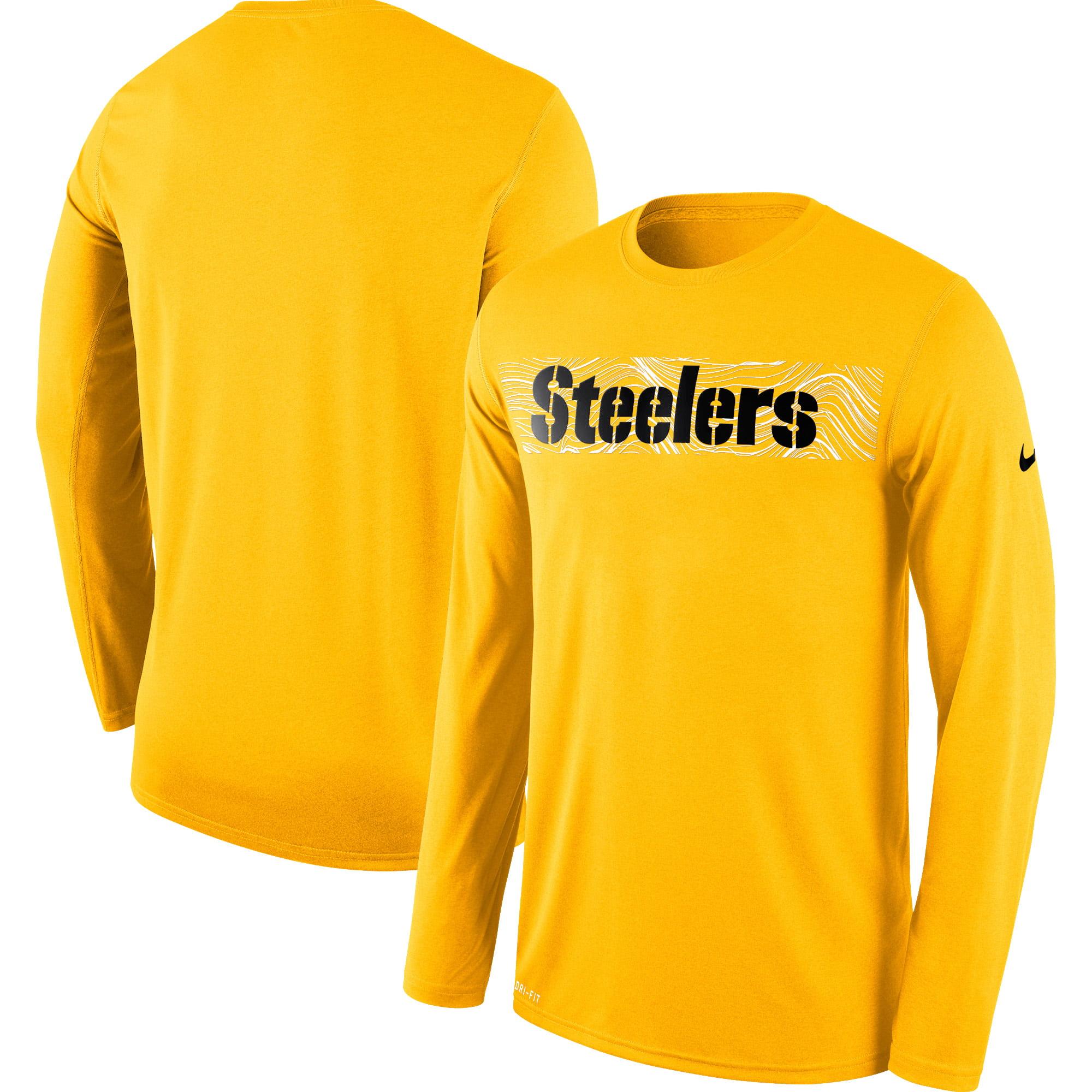 Pittsburgh Steelers Nike Sideline Seismic Legend Long Sleeve T-Shirt - Gold