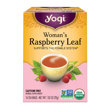(6 Boxes) Yogi Tea, Woman's Raspberry Leaf Tea, Tea Bags, 16 Ct, 1.02