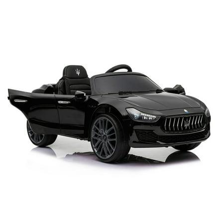 Best Ride On Cars 12V Maserati Ghibli Model Car - Black](best black friday deals for kids toys)