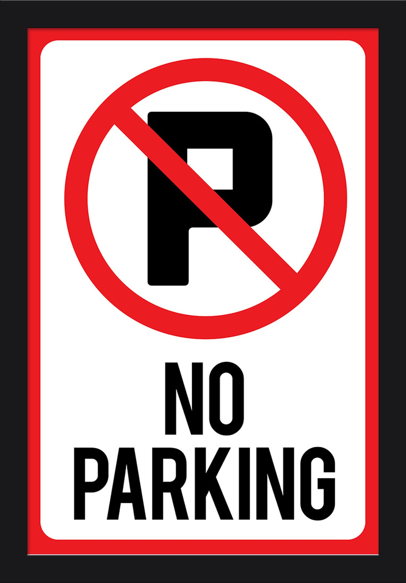 This is an image of Luscious Printable No Parking Sign