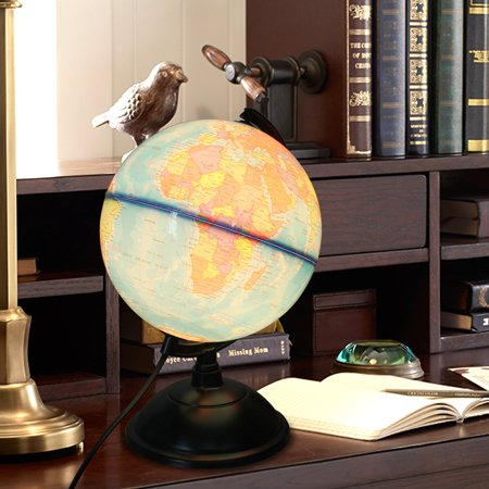 - Rotating World Globe Earth Lamp LED light Illuminated Desk Map Geography Learing