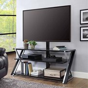 """Whalen Furniture 3-in-1 Brown Tv Stand for Tvs up to 70"""""""
