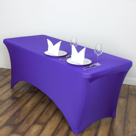 55e3672c79fa0 BalsaCircle 6 Feet Rectangular Spandex Fitted Elastic Tablecloth Wedding  Party Trade Show Booth Table Linens Decorations - Walmart.com