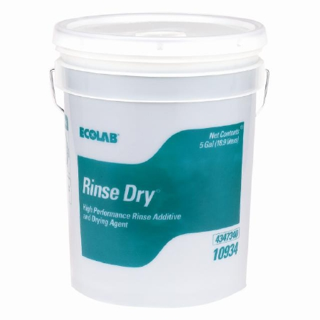 Ecolab Rinse Dry Rinse Additive ''5 gallon, 1 Count''