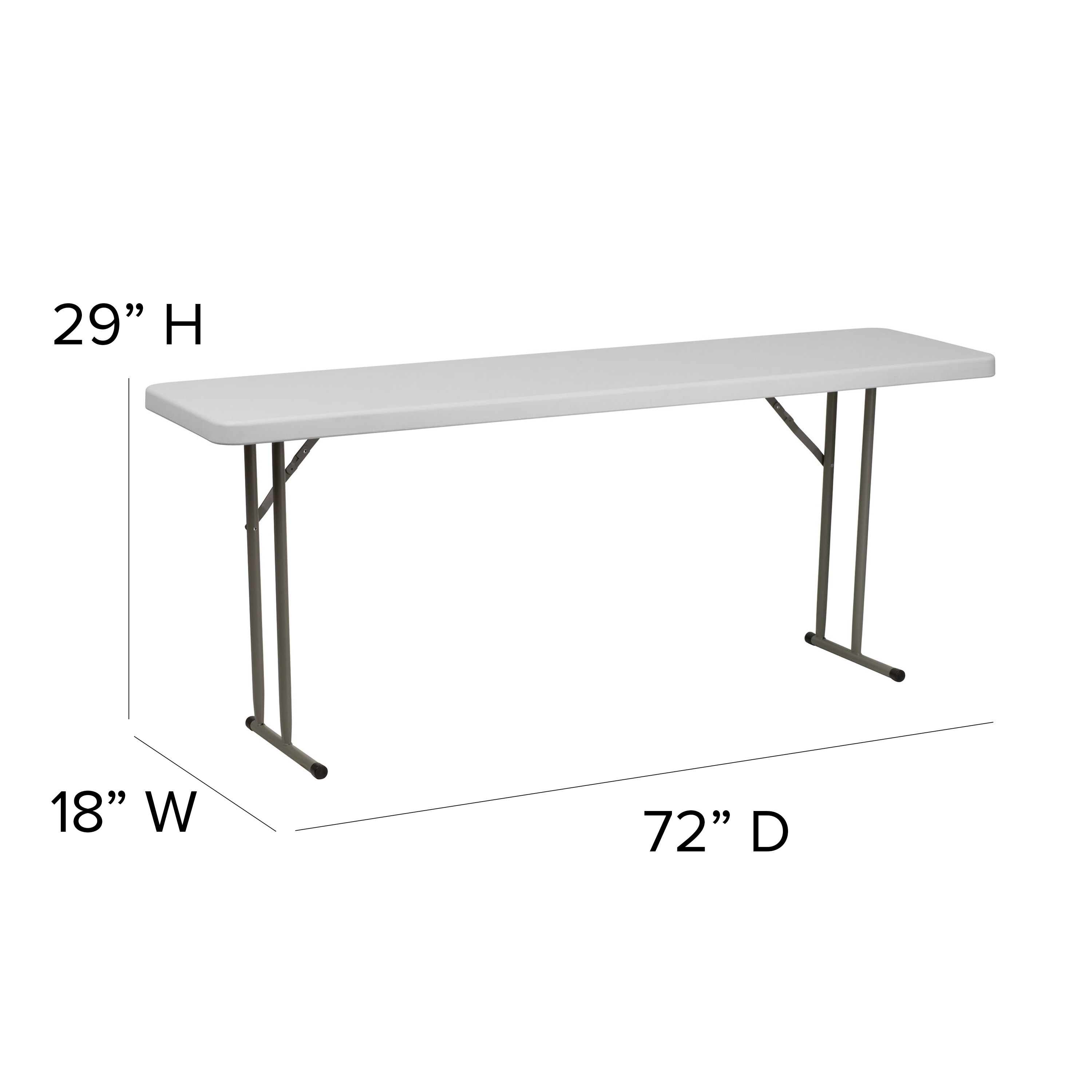 Details about  /Flash Furniture Granite White Plastic Folding Training Table Available in 2 Size