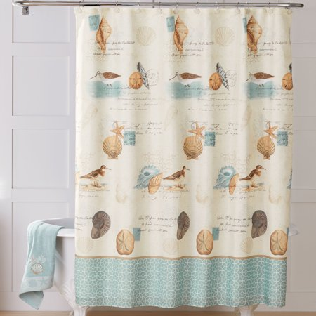 Better Homes Gardens Coastal Collage Fabric Shower Curtain 1 Each