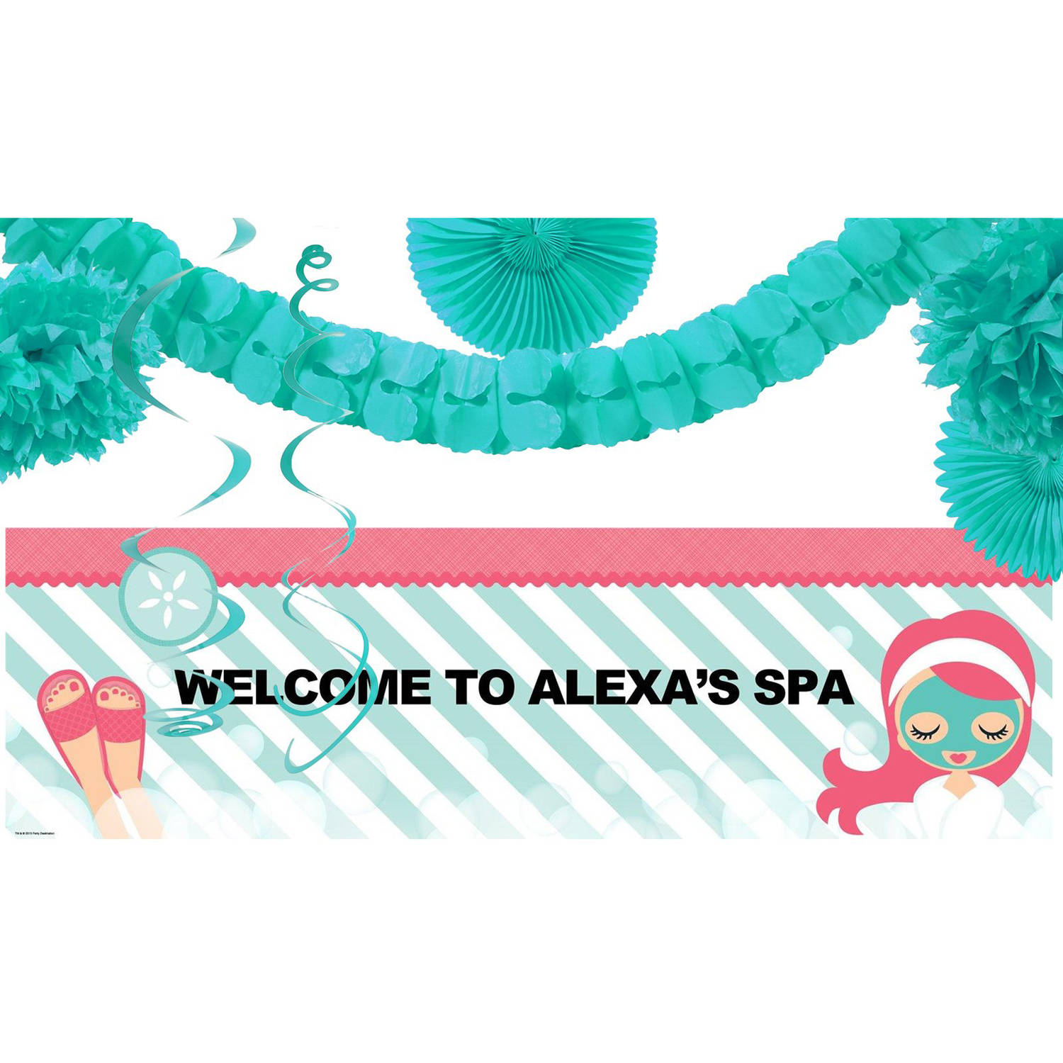Little Spa Party Banner Decoration Kit