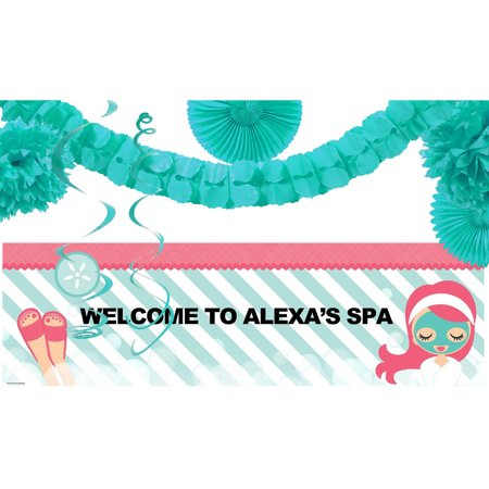 Little Spa Party Banner Decoration - Spy Decorations