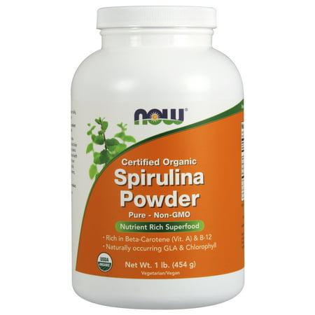 NOW Foods Spirulina poudre, organique, 1 Lb