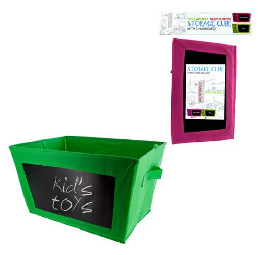 Storage Cube with Chalkboard - Set of 8