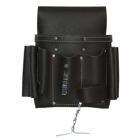 WESTWARD Tool Pouch,8 Pockets,10 x4x10.5,Leather 13T126