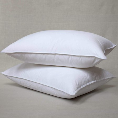 White Goose Feather and Down Pillow, Set of 2