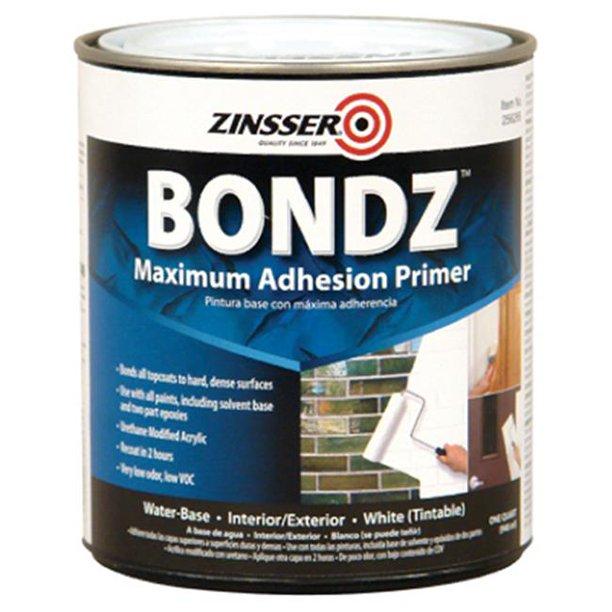 Zinsser 271198 Bondz Maximum Adhesion Water Based Primer 44 Quart Walmart Com Walmart Com