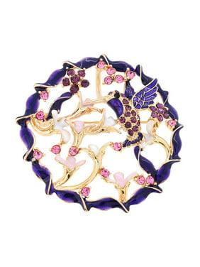 601faf2e673 Product Image Purple Hummingbird With Wreath Pin Brooch And Pendant.  Fantasyard