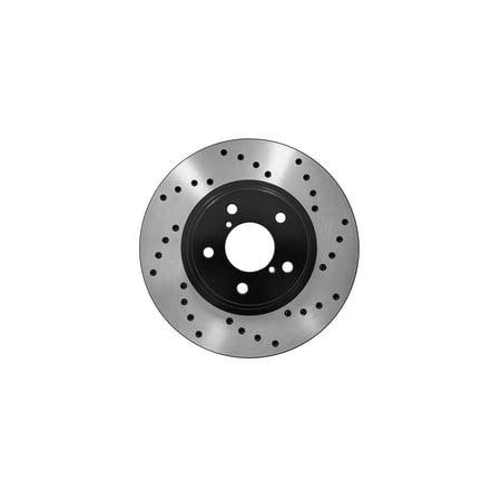 [Front Premium Drilled Coat Brake Rotors Ceramic Pads] Fit 14-16 Toyota RAV4 LE - image 1 of 2