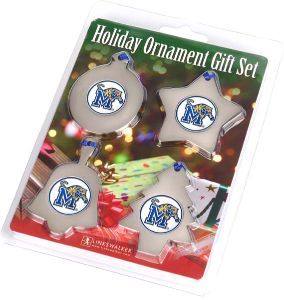 NCAA - Memphis Tigers Holiday Ornament Gift Set