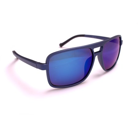 Aviator Shield Plastic Frame Gradient Color Lens Sunglasses, (Aviator Blue Gradient)