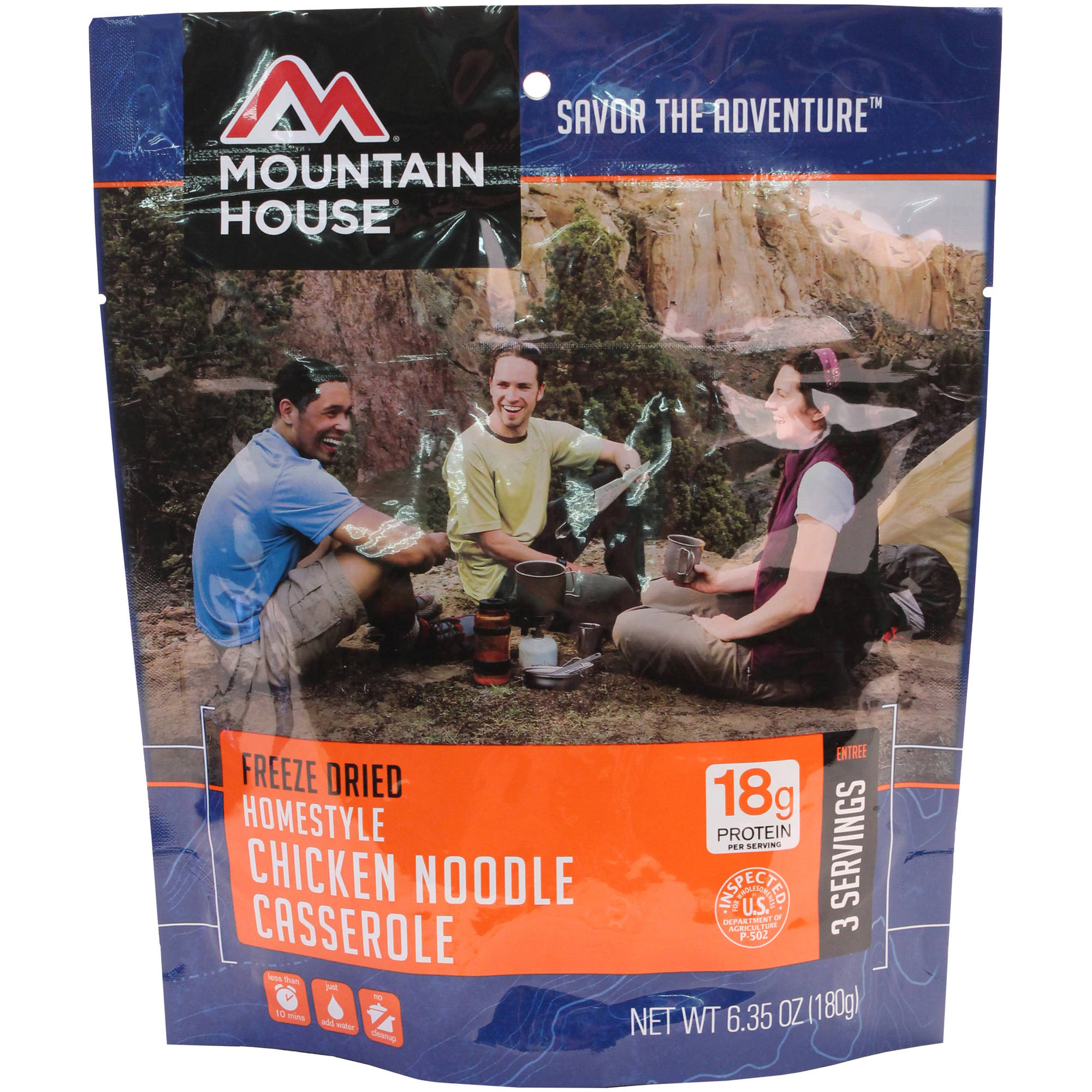 Mountain House Entrees Homestyle Chicken Noodle Casserole, 3 Servings by Mountain House