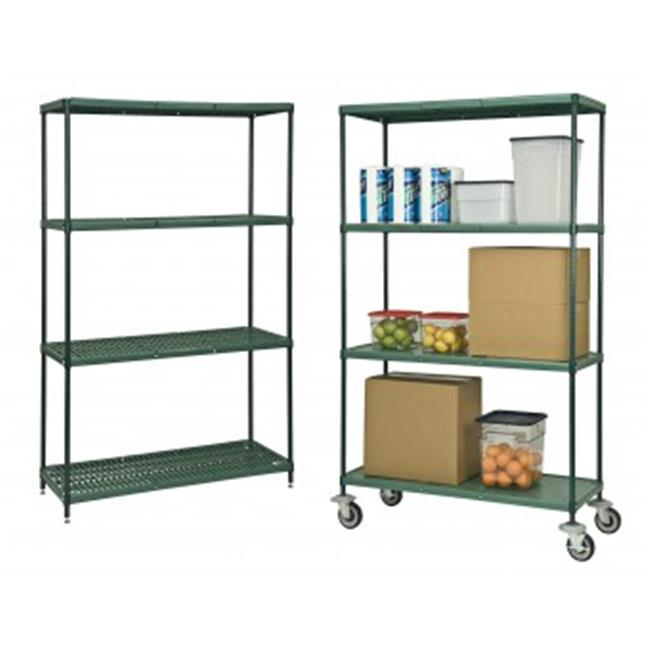 Focus Foodservice FPS2472SOGN 24 inch x 72 inch FPS-Plus solid polymer shelf - Pack of 2