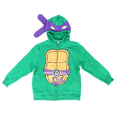 Teenage Mutant Ninja Turtles Boys Costume Zip Up Hoodie Sweatshirt