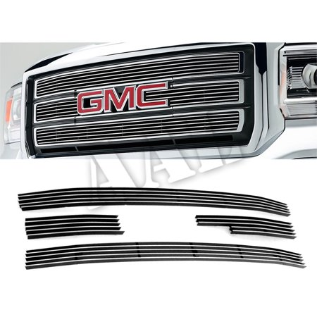 Gmc Yukon Xl 1500 Grille (AAL BOLT ON / BOLT OVER BILLET GRILLE / GRILL INSERT For 2014 2015 GMC GMC Sierra 1500 4 pcs Overlay Does not fit All Terrain models)