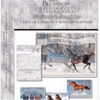 Card-Boxed-Shared Blessings-Christmas-Horses In Winter (Box Of 12)