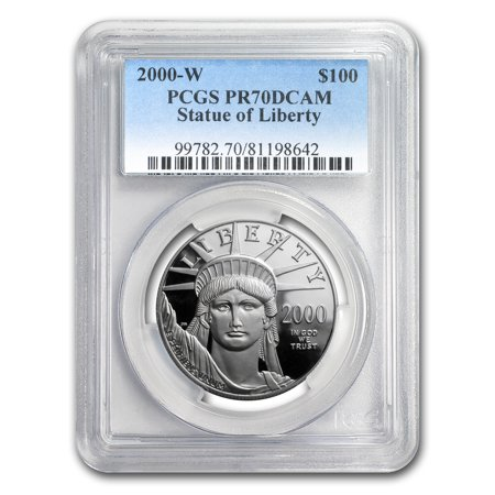 2000 W 1 Oz Proof Platinum American Eagle Pr 70 Pcgs