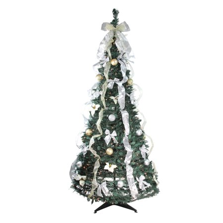 Northlight 6' Prelit Artificial Christmas Tree Silver and ...