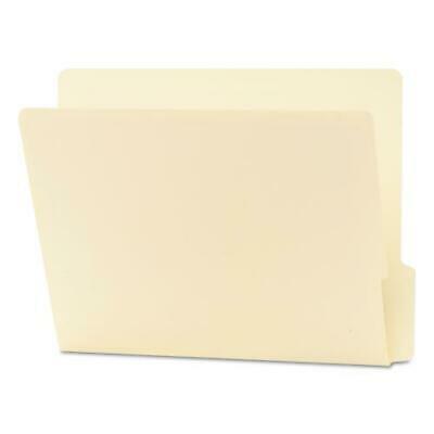 End Tab Folders, Reinforced 1/3-Cut Bottom Position Tab, Letter, Manila,