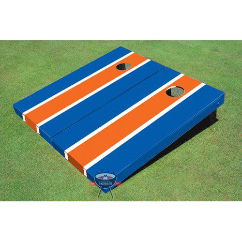 All American Tailgate Matching Long Stripe Cornhole Board (Set of 2)