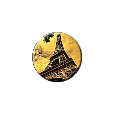 Eiffel Tower Paris Vintage Lapel Hat Pin Tie Tack Small Round