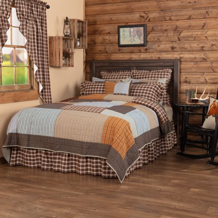 VHC Brands Rustic & Lodge Farmhouse Bedding - Rory Grey Quilt, King, Greige - image 2 de 2